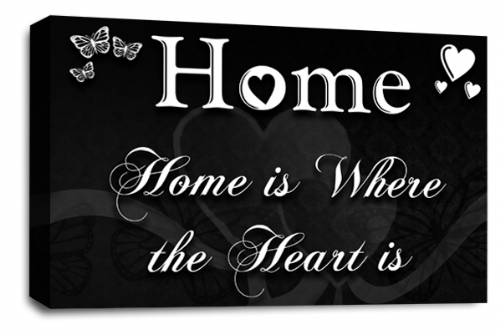 Home Quote Wall Art Picture Black White Love Print